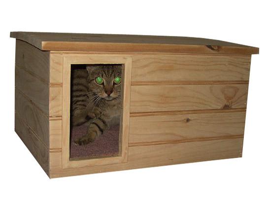 Домик для кошек с подогревом своими руками 28