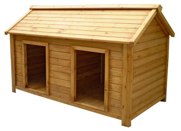 будка для двух собак