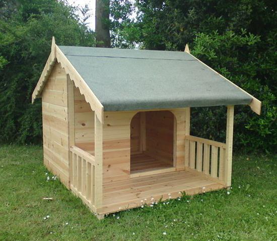 будка-домик для одной собаки спереди