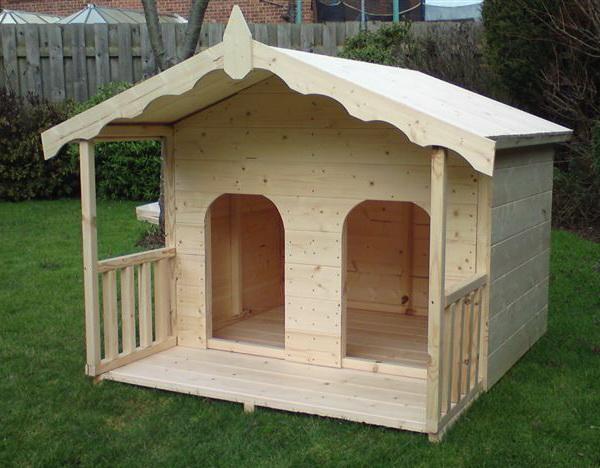 будка-домик для двух собак без